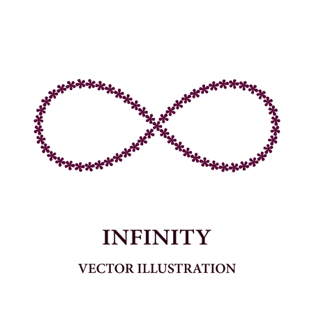infinity symbol: Abstract infinity symbol consisted of little flowers