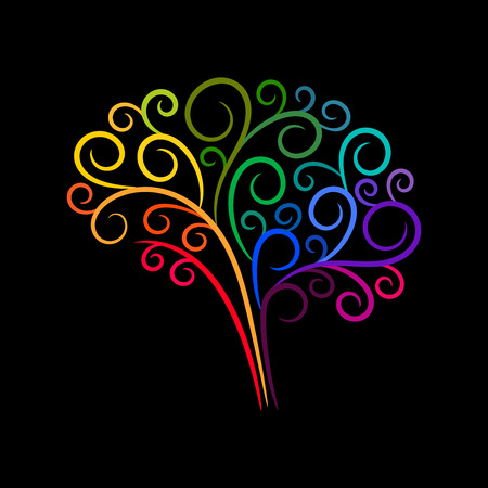 Abstract vignette colourful brain. Vector design for any decoration. Creative concept.