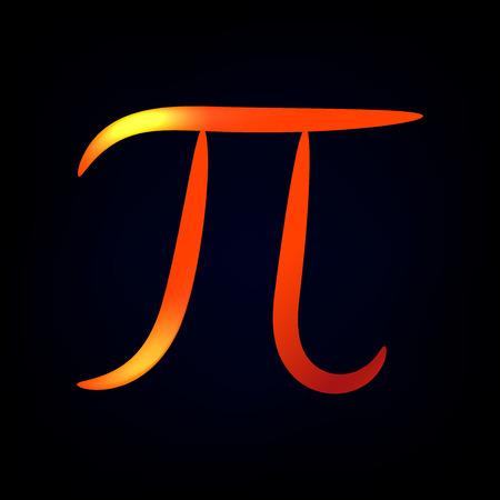 Glowing contour stylized pi symbol