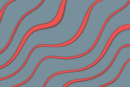 Material design background with gray and red diagonal waves, vector. Ilustrace