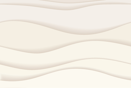 Material design background with white waves, vector