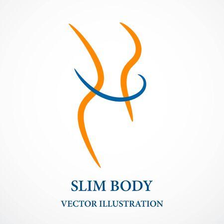 Fitness contorno corporal Ilustración de vector