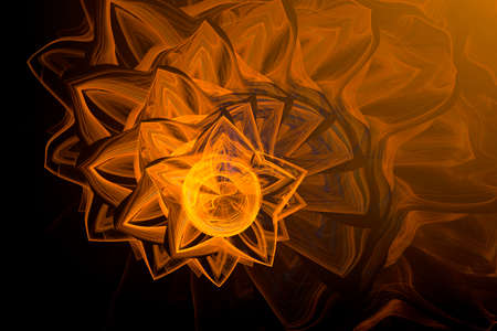 Abstract fractal background, free illustration of sun