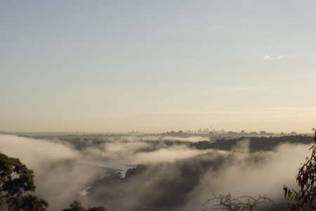 approx:  Autumn Morning Sydney Australia taken from the Southern Suburbs approx 35 K Stock Photo