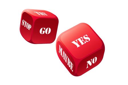 hesitancy: Big gamble with decision dice