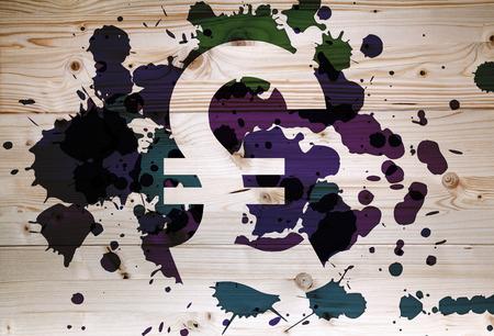 lira: Clean Italian Lira currency on dappled  wooden background