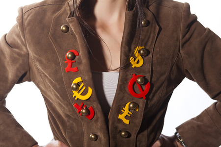 nack: Banker womans accessories are international economy icons