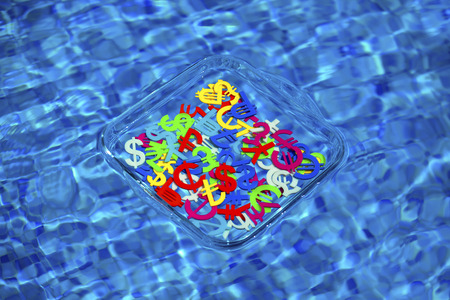 Colourful economy and currency unit in a pool securely