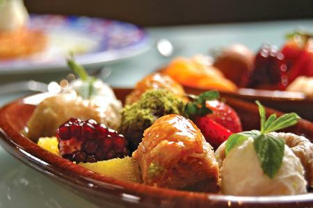 sweet plate for Ramadan Stock Photo