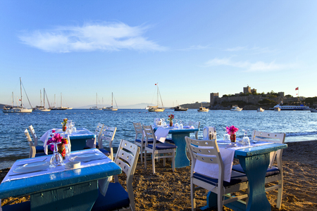 characteristic: A characteristic restaurant at the sea side in Bodrum