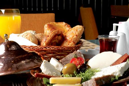 Rich traditional Turkish breakfast