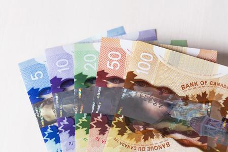 Tous les dollars canadiens contiguosly 5 à 100