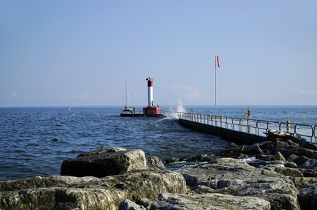 Lighthouse at Oakville Homecoming Trail Ontario Canada Stock Photo - 86254392