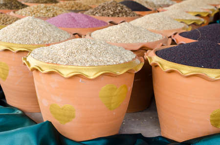 heap up: vegetable seed heap up in pot