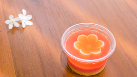 limp: Coconut jelly in a cup