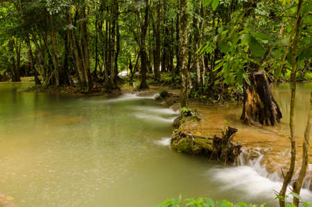 rill: Kroeng Krawia waterfall, Khao Laem national park, Kanchanaburi Stock Photo