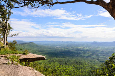 Aerial view on pha hum hod, Chaiyaphum,Thailand