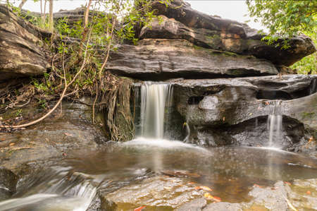 rill: Sang Chan Waterfall, Ubon Ratchathani,Thailand Stock Photo