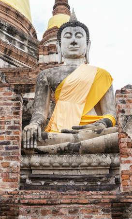 buddha statue: antique buddha statue, Ayutthaya, Thailand