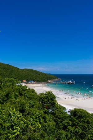 view of koh lan island, Pattaya Stock Photo