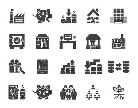 Simple Set of Money Related finance Vector Icons. Editable Stroke Perfect icons for mobile concepts and web apps Ilustrace