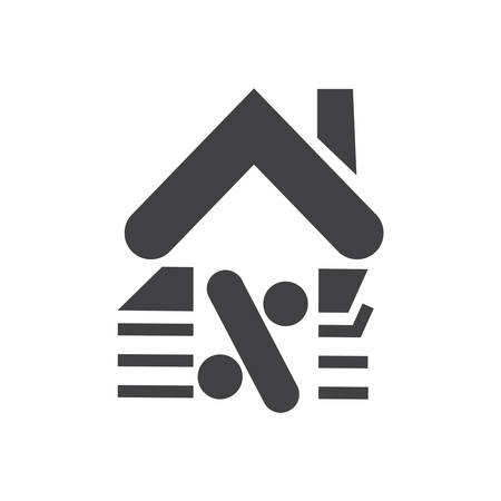 Loan icon. vector simple of Home loan sign symbol with home- vector