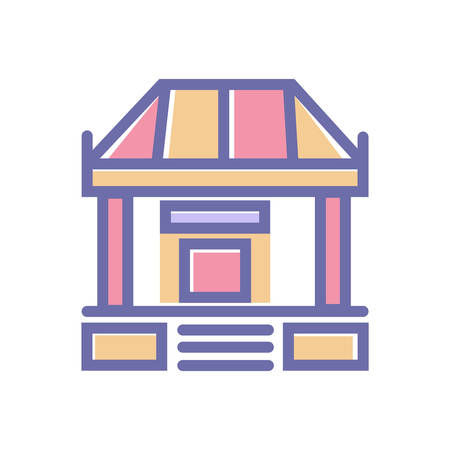 Bank perfect icon. vector sign symbol bank 64X64 perfect website or mobile apps icon- vector Ilustracja
