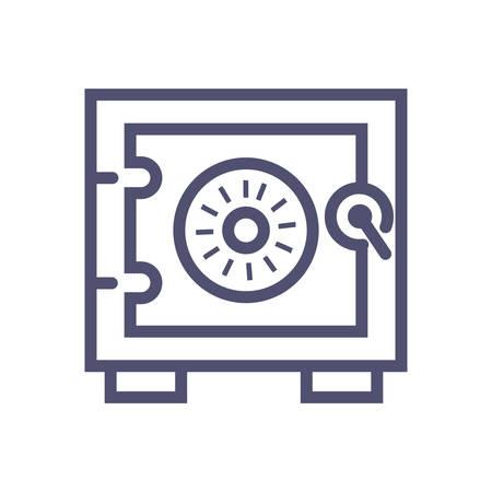 Safe vector icon. vector safe illustration icon for website or mobile apps Illustration