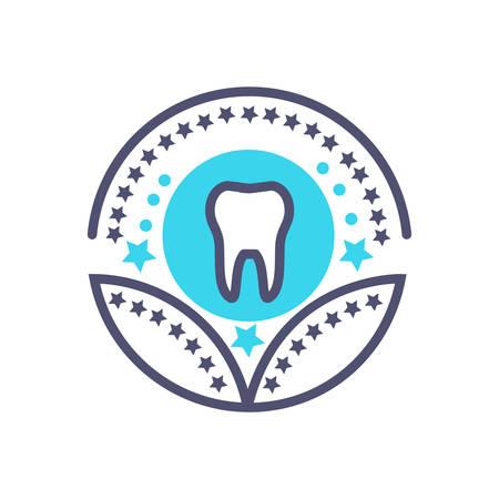 dental healthcare or medical award icon- vector healthcare sign