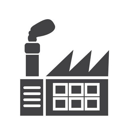 Factory icon. simple clean factory sign symbol -vector illustration
