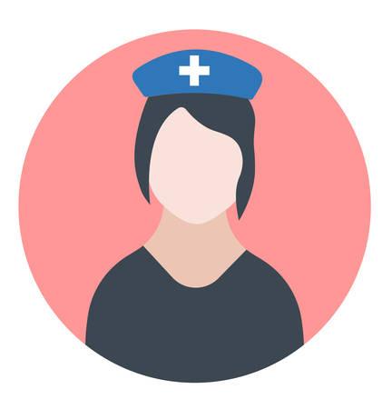 Medical doctor or nurse icon- vector medical doctor sign Illustration