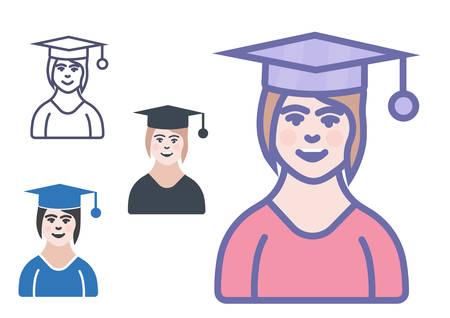 Professor or teacher icon- vector learning sign