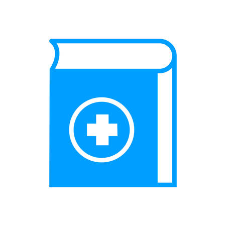Health and Medical book icon- vector medical book icon for health, clinic, medical, hospital service.