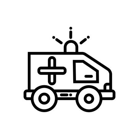 Ambulance vector Editable icon for medical health care or clinic service. 矢量图像