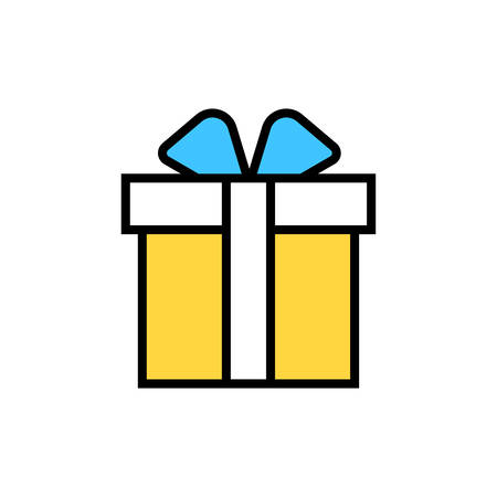Gift box icon- vector gift box editable icon for website and mobile apps.