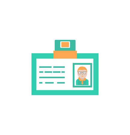 id card icon- vector id card sign and symbol.