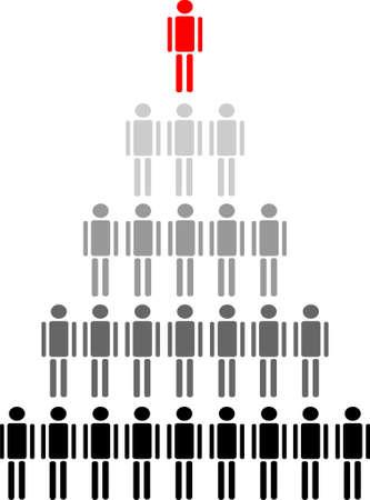 Menschen Hierarchie  Illustration
