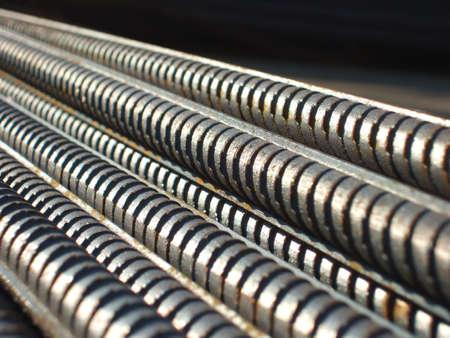 rejas de hierro: Barras 5 del acero Foto de archivo