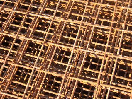 Stahl Zaun mit Rost