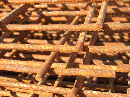 Steel fence with rust 2 Stock Photo
