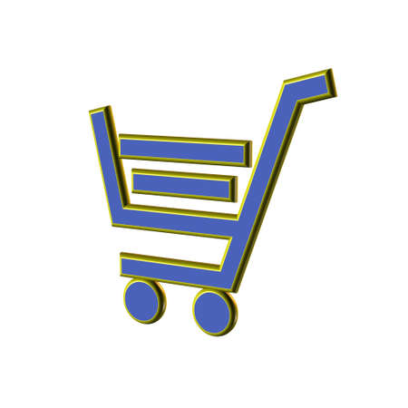 3d Warenkorb-Symbol