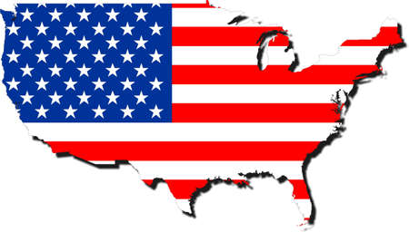 American map Lizenzfreie Bilder