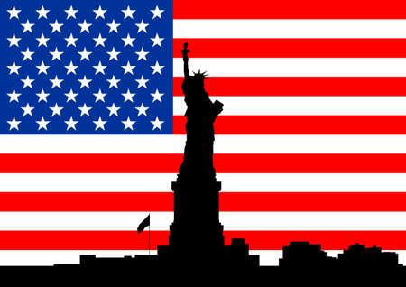 american city: American city skyline