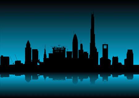 free photos: city skyline at dawn Stock Photo