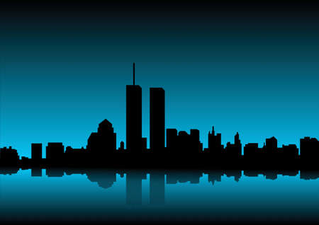 city skyline at dawn Stock Photo - 10376638