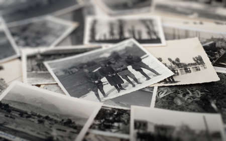 Pile of old war pictures Stock Photo - 13555527