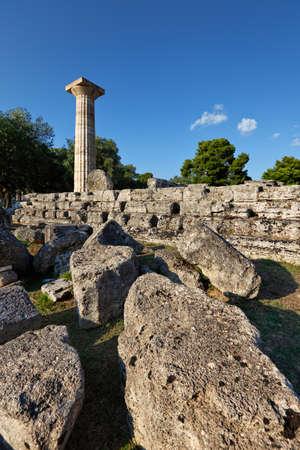 Temple of Zeus monument (470-457 B.C.) in Olympia, Greece photo