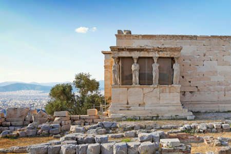 The Caryatids of Erechtheion (421 B.C.) on the Athenian Acropolis, Greece