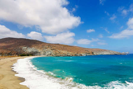 The magnificent beach Kolybithra is definitely the most exotic in Tinos island, Greece