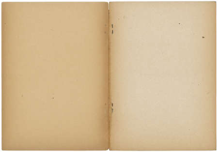 opened vintage note book isolated on white Stock Photo - 5762909